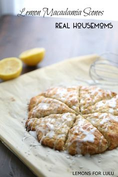 Lemon Macadamia Scones are the perfect pick me up any time of day!