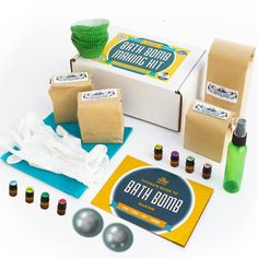 DELUXE BATH BOMB KIT TO RULE THEM ALL: This kit has everything you need to make 12 bath bomb cupcakes. Includes pre-measured baking soda, corn starch, citric acid and epson salts; PLUS supplies like gloves and spray bottle and even a dozen cupcake mold liners AND Reusable Mold Set. And
