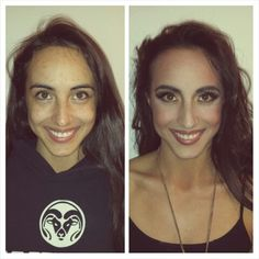 Before and after of my friend/model Ambyr before her Queen Gorgo shoot