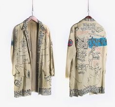 A Jacket tagged by Jean-Michel Basquiat and other downtown personalities recently sold at auction for $9,100.The seller was the original owner, the stage manager of the legendary after-hours nightclub Danceteria from 1981 to 1986.