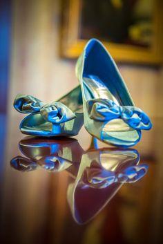Blue Satin Peep-Toe Wedding Shoes   Derek Halkett Photography https://www.theknot.com/marketplace/derek-halkett-photography-woodstock-valley-ma-588590