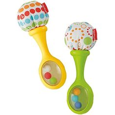 Fisher-Price Rattle and Rattles Rock Maracas Musical Toy #FisherPrice