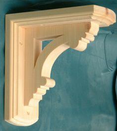 Decorative Shelf Brackets   Large Decorative Wooden Shelf Brackets x 2   eBay