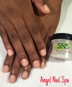 Sns Nails Overlay On Natural Acrylic Ballerina
