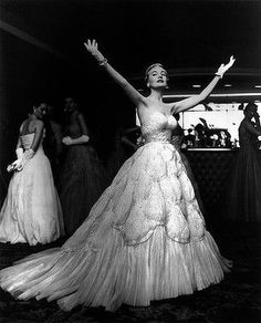 The story of Fashion in Australia by Alexandra Joel - 1950s ballgown.