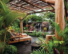 The Water of Life garden at one of my favorite resorts in Hawaii - The Four Seasons Resort, Hualalai