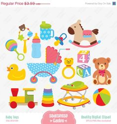 Baby Toys Digital Clipart