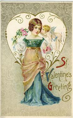 vintage purple postcards women | Click one of the free vintage Valentines below to view and download a ...