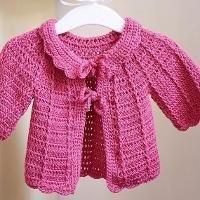Candy Pink Baby Cardigan - via @Craftsy