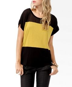 Boxy Colorblocked Top from Forever21.com