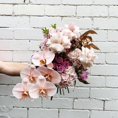 Orchid Bouquet Wedding, Winter Wedding Flowers, Pink Bouquet, Bridal Flowers, Floral Bouquets, Floral Wedding, Floral Flowers, Wedding Decor, Florals