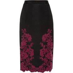Ted Baker Embroidered Mesh Lace Skirt, Dark Red (395 AUD) ❤ liked on Polyvore featuring skirts, knee length pencil skirt, midi pencil skirt, ted baker skirt, midi skirt and stretch pencil skirt