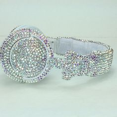 Sony Headphones made with Iridescent Swarovski by TheILLlines