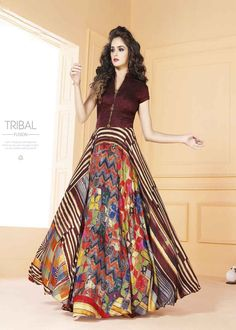 fcbae70eb1 Spread out your exceptional dressing style by draping this exclusive multi  color tafeta silk digital print