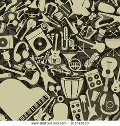 Background from musical instruments. A vector illustration by Aleksander1, via Shutterstock