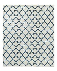 Moroccan Tile Flatweave Rug - Ocean | RH :: $1275 for 8x10