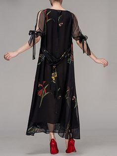 New dress maxi prom floral prints 32 ideas Elegant Maxi Dress, Maxi Dress Wedding, Chiffon Maxi Dress, Maxi Dress With Sleeves, Tulle Dress, Lace Dress, Unique Dresses, Trendy Dresses, Fashion Dresses