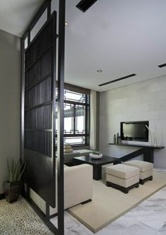 I love this room divider idea. Floor is pretty too