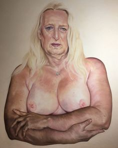"""Melodie Cook  """"Tanya.This is me."""" Pastel on board 120x90cms"""