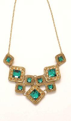 emeralds, squares, gold
