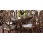 $1,467.00  AICO Furniture - Eden Double Pedestal Rectangular Dining Table in Amaretto - 60002-23