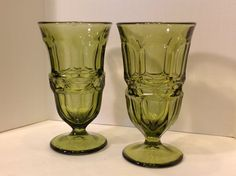 Two Vintage Argus Tea Glasses by Fostoria by vicandjulie on Etsy