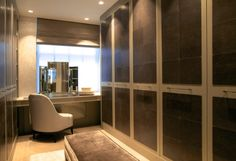 A sumptuous dressing room in one of the four bedroom suites @theartofbespoke