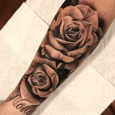 rose tattoo forearm - rose tattoo ` rose tattoo design ` rose tattoo men ` rose tattoo forearm ` rose tattoo on shoulder ` rose tattoo sleeve ` rose tattoo wrist ` rose tattoo ribs Rose Tattoo Forearm, Forarm Tattoos, Dope Tattoos, Badass Tattoos, Trendy Tattoos, Body Art Tattoos, Hand Tattoos, Tatoos, Guy Sleeve Tattoos