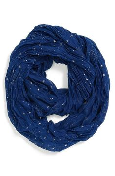 I really love this scarf.  So unique & versatile.  Must have!  Seeing stars! Blue Infinity Scarf