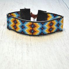 Beaded Bracelet - Indian Sunset Bead Bracelet - Loom Bracelet - Adjustable…