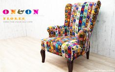 ON&ON ディレクター チェアー パッチワーク リーフ FLORES DLC120fr  KARE Design Bohemian Life… Kare Design, Wingback Chair, Accent Chairs, Bohemian, Life, Furniture, Home Decor, Upholstered Chairs, Decoration Home