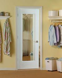 Bathroom Mirror Door low cost ideas to revamp 70's style doors | hollow core doors
