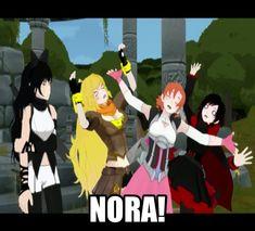 RWBY Nora! by dinochickrox on DeviantArt