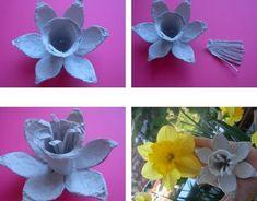 15+ Brillantes Ideas para Hacer Flores con Cajas de Huevos