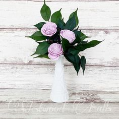 Asymmetrical flower arrangements in milk glass. Perfect for weddings or as a gift. Sola Wood Flowers, Milk Glass, Flower Arrangements, Glass Vase, Weddings, Gifts, Home Decor, Floral Arrangements, Presents