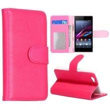 Capa Sony Xperia Z1 Compact Book Carteira Rosa  9,99 €