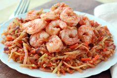 Hungry Girl's Healthy Meals with 5 Ingredients or Less: Shrimp 'n Slaw Marinara - Courtesy of Hungry-Girl.com