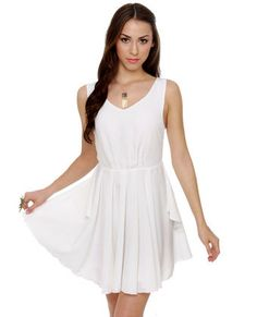 I already own a white summer dress. But  if you do NOT, this is a good choice! More classic than a lace dress, just don't spill anything!
