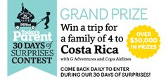Quick & easy to enter! Todays Parent, Family Of 4, Win A Trip, 30 Day, Spring Style, 30 Years, Giveaways, Comebacks, Karma