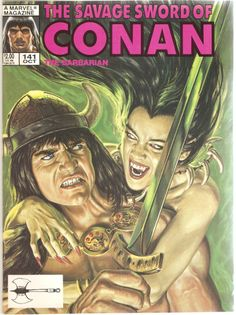 The Savage Sword of Conan the Barbarian. Vol. 1, No. 141. U.S. Marvel Comic. Oct. 1987.