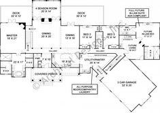 Luxury Ranch House Plan with Accessible In-law Suite First Floor
