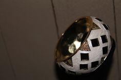 black diamond / gold Bangle