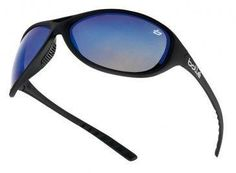 Bolle Groove Clear/Smoke/Flash Safety Glasses Black Frame   Micro Fibre Bag