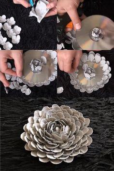 Mikor Megláttam Ezeket Az Ötleteket, A S - Diy Crafts Cd Crafts, Diy Crafts Hacks, Cardboard Crafts, Diy Home Crafts, Diy Arts And Crafts, Recycled Crafts, Flower Crafts, Creative Crafts, Diy Crafts To Sell