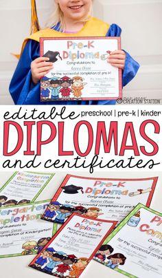 prek diplomas