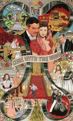 Awesomely Intricate Gone With The Wind Illustration