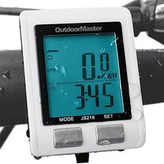 Outdoormaster Wireless Bike Computer, Waterproof Multifunction Cycling Speedometer With Backlit Display -- Read review @ http://www.amazon.com/gp/product/B01C8H79J2/?tag=fitnessztore-20&pgh=030816025348