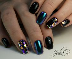 Most Gorgeous Glitter Nails Ideas Include Acrylic And Matte Nails For Fall And Winter - Nail Art 26 ♡♥𝕴𝖋 𝖀 𝕷𝖎𝖐𝖊, 𝕱𝖔𝖑𝖑𝖔𝖜 𝖀𝖘! ♥ ♥ ♥ ♥ ♥ ♥ ♥ ♥ ♥♡♥ Everythings about Glitter Nails Design You May Love! ♥♡₲Ⱡł₮₮ɆⱤ ₦₳łⱠ₴ ĐɆ₴ł₲₦ Glitter Tip Nails, Diy Nails, Nail Nail, Blue Glitter, Crome Nails, Confetti Nails, Nagellack Design, Nails Polish, Oval Nails