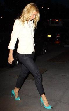 gwyneth paltrow | pop of color...