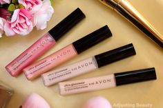 Review of Avon Ultra Glazewear Lip Gloss (Pink Petal, Blushed Blossom, Tinted Peach, Rose Reflection)